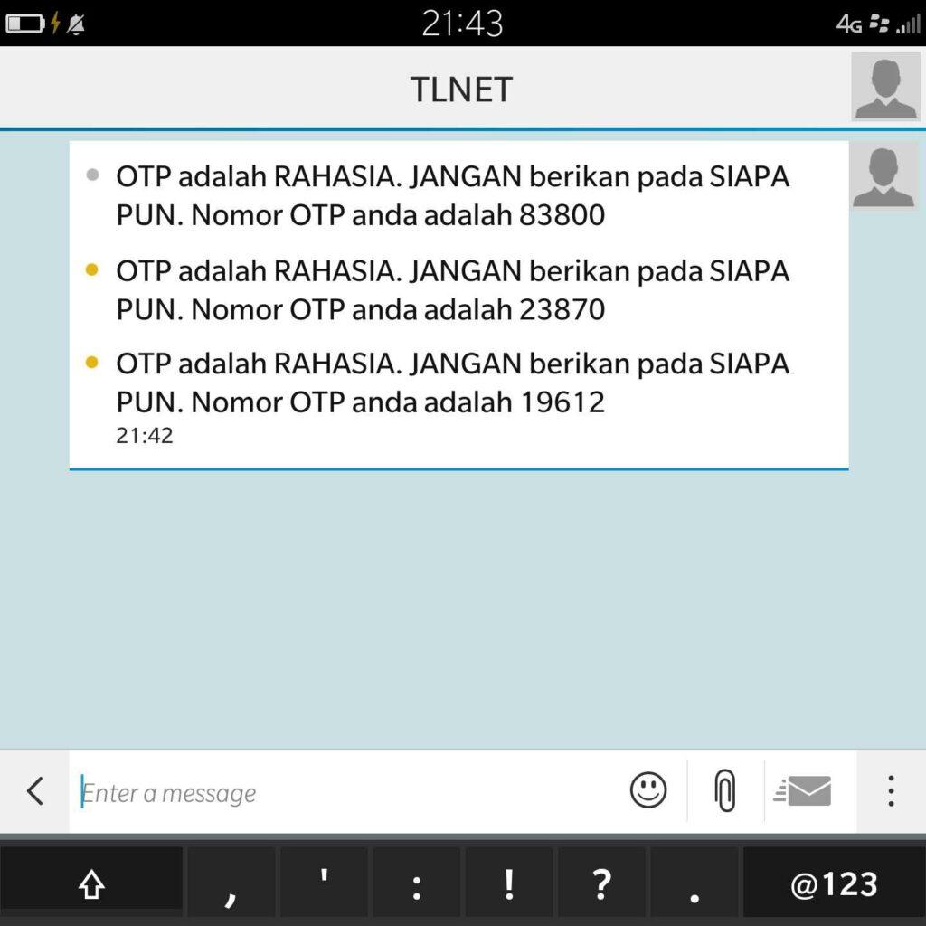 API SMS Gateway OTP SMS