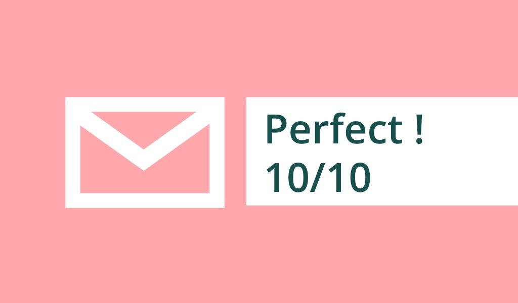 Mendapatkan Skor Email Sempurna