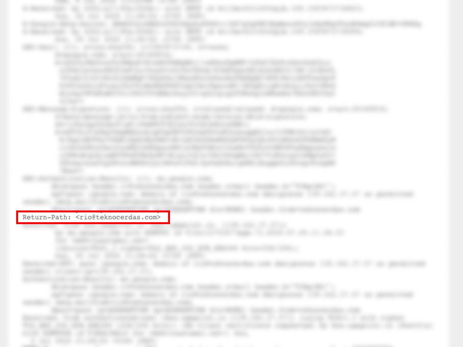 Return-Path email berbeda dengan alamat From