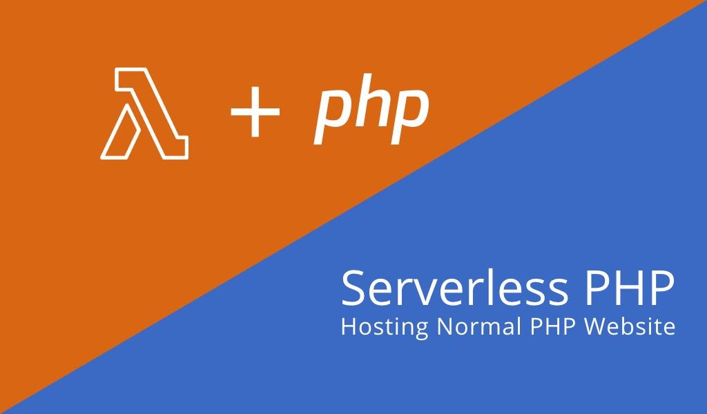 Hosting Normal PHP Website dengan Lambda