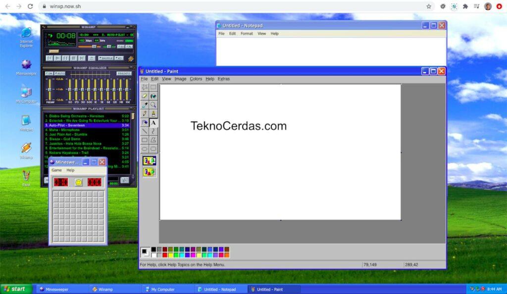 Nostalgia dengan Windows XP lewat winxp.now.sh