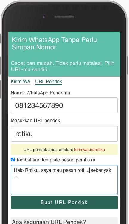 Membuat WhatsApp Link dengan KirimWa.id