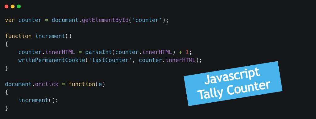 Membuat Tally Counter dengan Vanilla Javascript