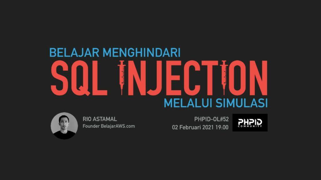 Belajar Menghindari SQL Injection