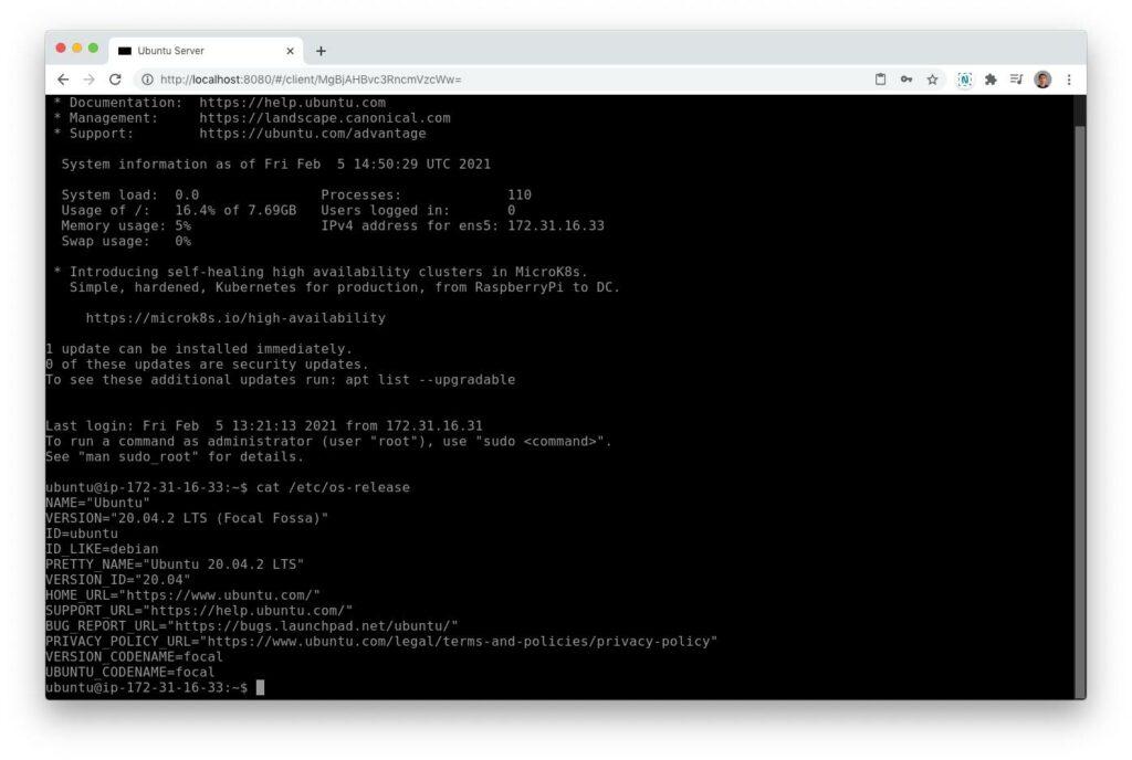 Apache Guacamole koneksi SSH