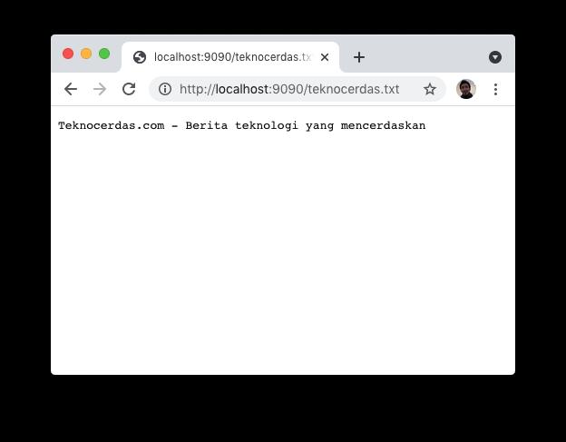 Localhost Web Server untuk SSH Tunnel
