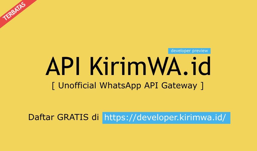 Kirim WhatsApp dengan API KirimWA.id