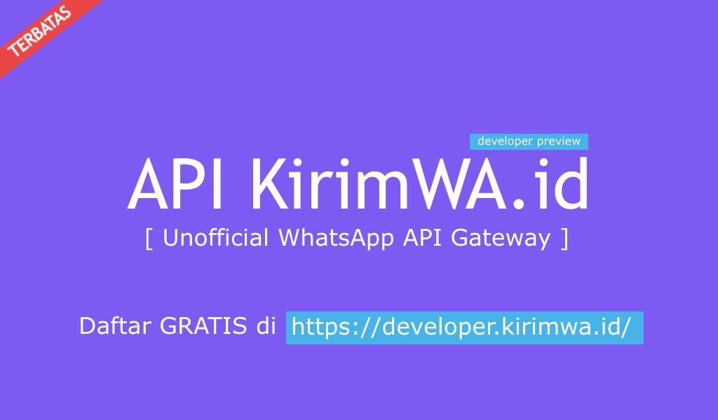 Kirim WhatsApp dengan API KirimWA.id dan PHP