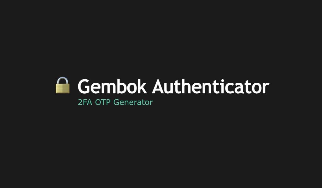 Gembok Authenticator